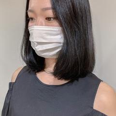 透明感カラー 韓国ヘア グレージュ ナチュラル ヘアスタイルや髪型の写真・画像