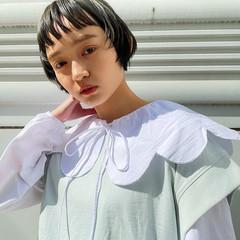 ショート オリーブグレージュ ショートボブ ナチュラル ヘアスタイルや髪型の写真・画像
