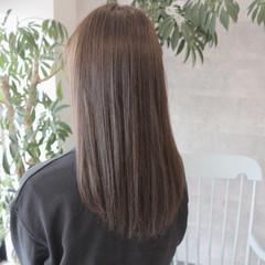 ナチュラル グレージュ オフィス 暗髪 ヘアスタイルや髪型の写真・画像