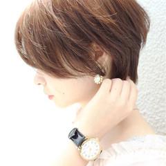 アウトドア ショート ヘアアレンジ オシャレ ヘアスタイルや髪型の写真・画像