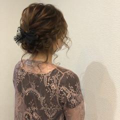 フェミニン ヘアアレンジ 和装 編み込み ヘアスタイルや髪型の写真・画像