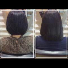 ナチュラル 髪質改善 まとまるボブ ミディアム ヘアスタイルや髪型の写真・画像