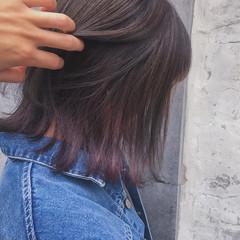 ストリート ボブ インナーカラー デート ヘアスタイルや髪型の写真・画像