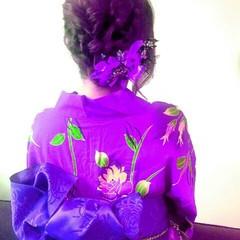 デート フェミニン ヘアアレンジ レトロ ヘアスタイルや髪型の写真・画像