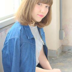 ワンレングス ミディアム 外国人風 ナチュラル ヘアスタイルや髪型の写真・画像
