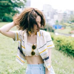 モード 夏 ボブ 涼しげ ヘアスタイルや髪型の写真・画像