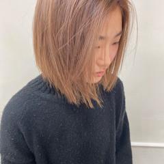 ブリーチカラー ベージュカラー ハイトーンカラー ボブ ヘアスタイルや髪型の写真・画像