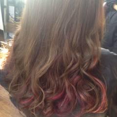 ストリート ガーリー ピンク レッド ヘアスタイルや髪型の写真・画像