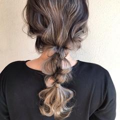 結婚式アレンジ 編みおろし エレガント ロング ヘアスタイルや髪型の写真・画像