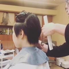 ナチュラル マッシュ 坊主 黒髪 ヘアスタイルや髪型の写真・画像