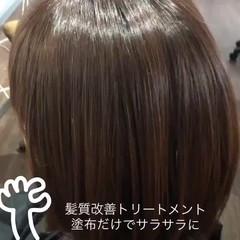 エレガント 髪質改善トリートメント ミディアム 髪質改善カラー ヘアスタイルや髪型の写真・画像