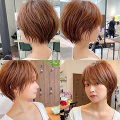 アンニュイほつれヘア ショートボブ ナチュラル ショート ヘアスタイルや髪型の写真・画像