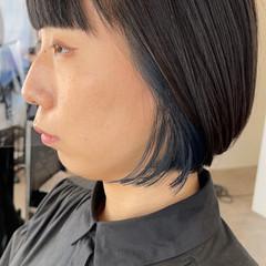 ミニボブ ショートヘア ナチュラル ブリーチカラー ヘアスタイルや髪型の写真・画像