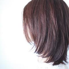 フェミニン ボルドー ピンク ナチュラル ヘアスタイルや髪型の写真・画像