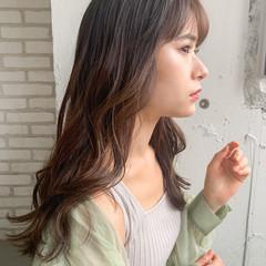 ミディアム 鎖骨ミディアム ミディアムレイヤー 透明感カラー ヘアスタイルや髪型の写真・画像