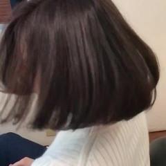 ナチュラル ボブ インナーカラー レッド ヘアスタイルや髪型の写真・画像