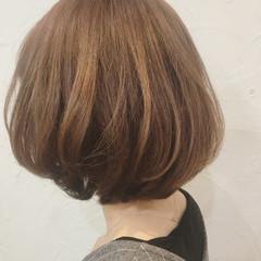 ナチュラル マッシュ フェミニン ショートボブ ヘアスタイルや髪型の写真・画像