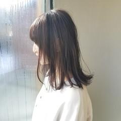 透明感 外ハネ パープル ボブ ヘアスタイルや髪型の写真・画像