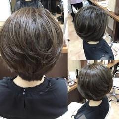髪質改善トリートメント 髪質改善カラー ショートボブ ナチュラル ヘアスタイルや髪型の写真・画像