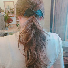 セミロング ナチュラル 簡単ヘアアレンジ オフィス ヘアスタイルや髪型の写真・画像