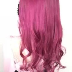 ピンクヘア ピンク 可愛い ガーリー ヘアスタイルや髪型の写真・画像