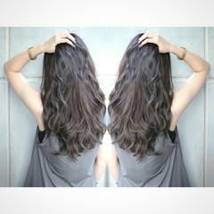 暗髪 コンサバ グレージュ ボブ ヘアスタイルや髪型の写真・画像