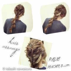 モテ髪 フィッシュボーン ヘアアレンジ コンサバ ヘアスタイルや髪型の写真・画像