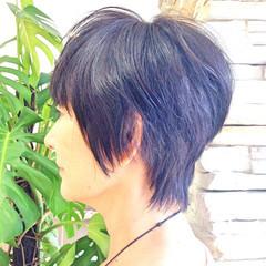 大人女子 黒髪 小顔 かっこいい ヘアスタイルや髪型の写真・画像