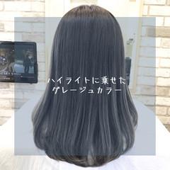 ナチュラル 前髪 髪質改善 グレージュ ヘアスタイルや髪型の写真・画像