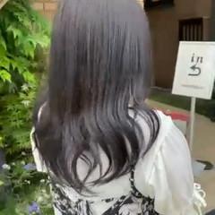 メッシュ ネイビーブルー ナチュラル ブルージュ ヘアスタイルや髪型の写真・画像