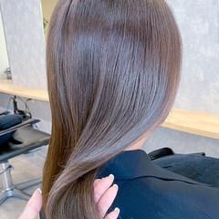 セミロング 艶髪 髪質改善トリートメント サイエンスアクア ヘアスタイルや髪型の写真・画像