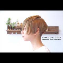 坊主 大人女子 アウトドア ショート ヘアスタイルや髪型の写真・画像