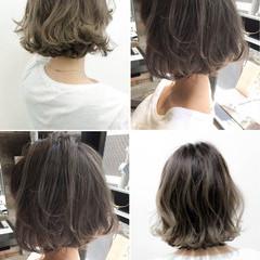 グレージュ 外国人風カラー ナチュラル 暗髪 ヘアスタイルや髪型の写真・画像