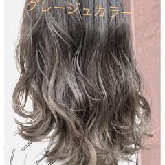 グレージュ ナチュラル アッシュ 愛され ヘアスタイルや髪型の写真・画像