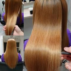 髪質改善トリートメント 髪質改善 ロング 縮毛矯正 ヘアスタイルや髪型の写真・画像