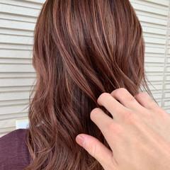 バレイヤージュ ハイライト フェミニン 外国人風 ヘアスタイルや髪型の写真・画像