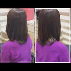 社会人の味方 ミディアム 髪質改善トリートメント 白髪染め ヘアスタイルや髪型の写真・画像
