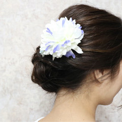 ヘアアレンジ セミロング 結婚式 成人式 ヘアスタイルや髪型の写真・画像