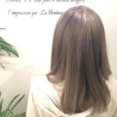 ミディアム ガーリー 外国人風カラー ダブルカラー ヘアスタイルや髪型の写真・画像