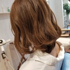 ロブ フェミニン ボブ 透明感 ヘアスタイルや髪型の写真・画像