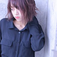 色気 パーマ ストリート ベリーピンク ヘアスタイルや髪型の写真・画像