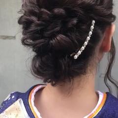 ロング ヘアアレンジ 結婚式 成人式 ヘアスタイルや髪型の写真・画像
