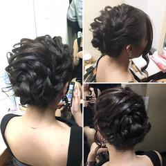 外国人風 ロング アップスタイル エレガント ヘアスタイルや髪型の写真・画像
