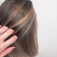 ブロンド バレイヤージュ ハイトーンカラー 外国人風カラー ヘアスタイルや髪型の写真・画像
