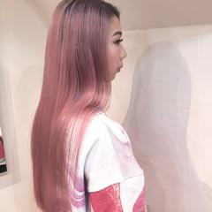 ハイライト ハイトーンカラー ロング バレイヤージュ ヘアスタイルや髪型の写真・画像