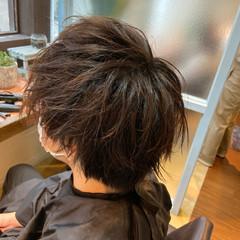 メンズカット ウルフカット メンズ マッシュウルフ ヘアスタイルや髪型の写真・画像