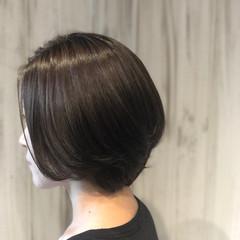 ボブ ショート 艶髪 大人女子 ヘアスタイルや髪型の写真・画像