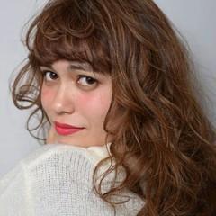 パーマ ハイライト 外国人風 大人かわいい ヘアスタイルや髪型の写真・画像