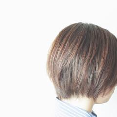 ストレート 大人女子 ボブ パーマ ヘアスタイルや髪型の写真・画像