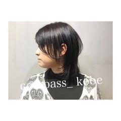 透明感 ミディアム グレーアッシュ ナチュラル ヘアスタイルや髪型の写真・画像